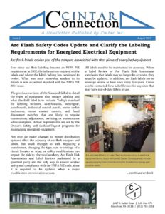 Cintar Connection - Issue 2 - Arc Flash