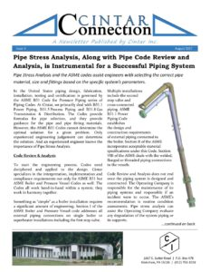 Cintar Connection - Issue 3 - Pipe Stress Analysis