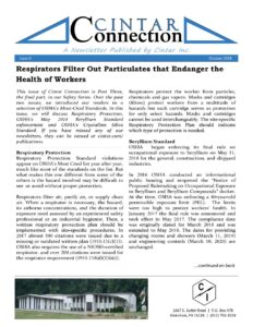 Cintar Connection - Issue 6 - Respiratory Protection